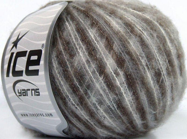 30g Sale Winter Brown White Ice Yarns Strickwolle Ice Yarns - Hungariana Garn und Strickwolle Online Shop