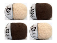 Kid Mohair Fine Dark Cream  Choco Ice yarns 120g