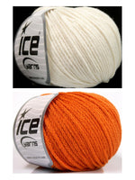 Wollpaket Airwool Orange Off White 150g