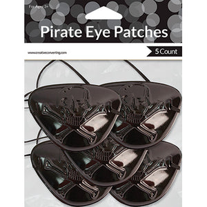 Black Pirate Eye Patches-5 pcs