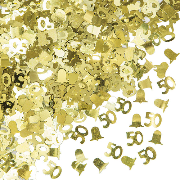 50th Gold Anniversary confetti