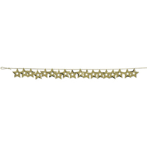 Gold Star Confetti Garland