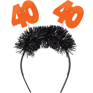 "Flashing Birthday Headband ""40"""