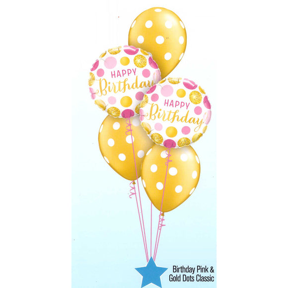 Birthday Pink & Gold Dots Classic