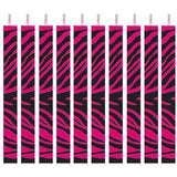 Pink And Black Zebra Striped Candle