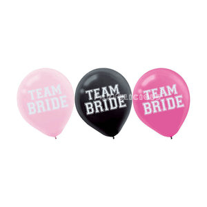 "12"" Team Bride Latex Balloons"