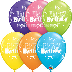 "11"" Birthday Streamers & stars"