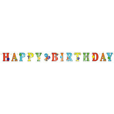 Birthday Horns Letter Banner