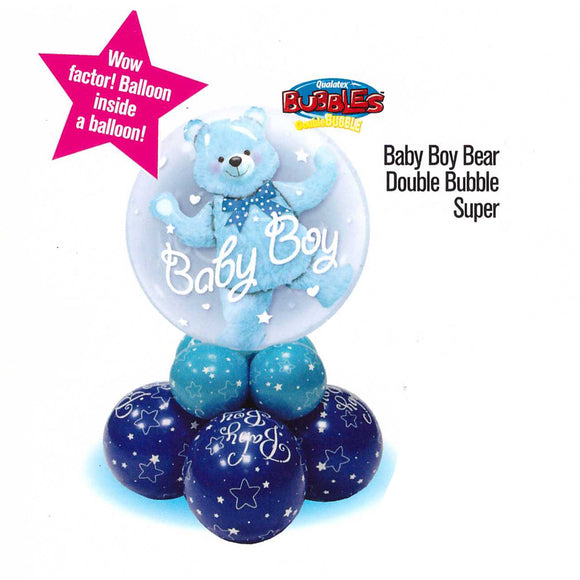 Baby Boy Bear Double Bubble Super