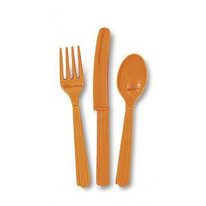 Pumpkin Orange Cutlery Set