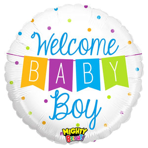 Mighty Baby Boy Banner Balloons