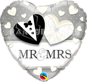 "18"" mr & mrs wedding"