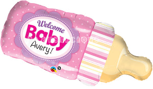 "39"" Welcome Baby Bottle Pink"
