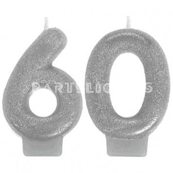 Candle Numeral Sparkling Celebration # 60