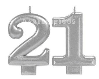 Candle Numeral Glitter # 21