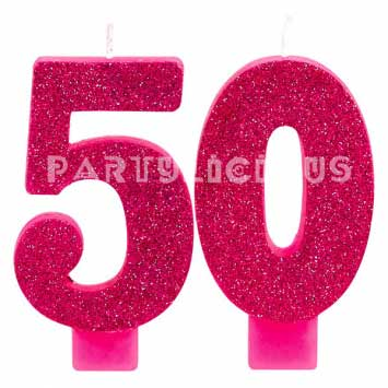 Candle Numeral Glitter # 50