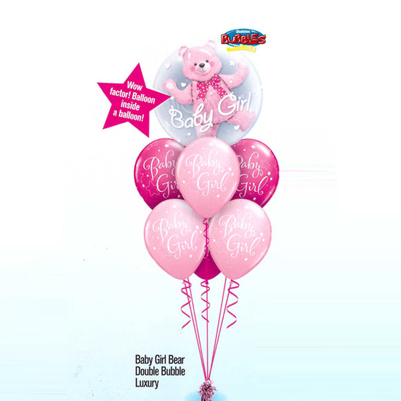 Baby Girl Bear Double Bubble Luxury