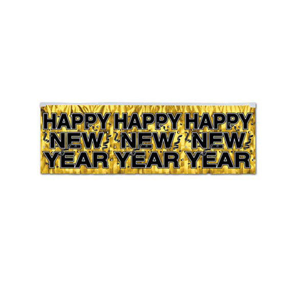 FR Metallic Happy New Year Fringe Banner