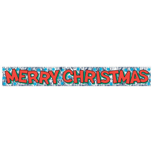 Metallic Merry Christmas Fringe Banner