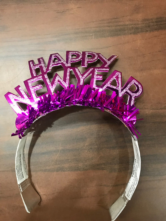 New year Tiara ( Pink)