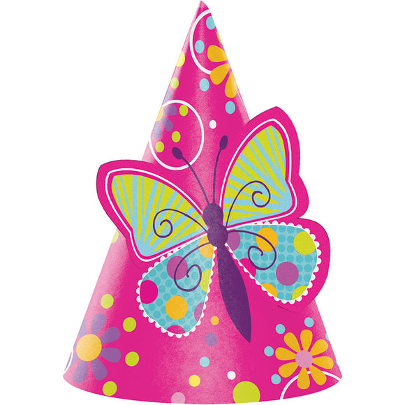 Butterfly Sparkle Paper Hats