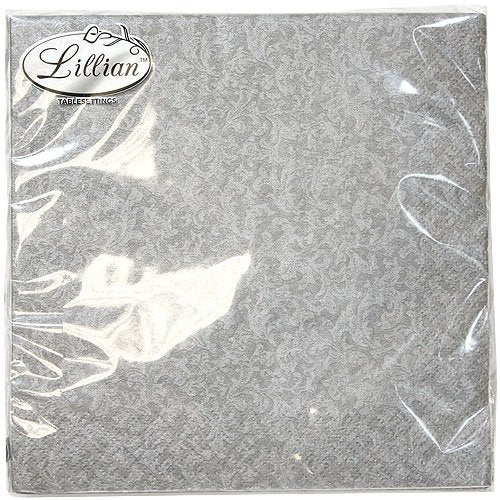 Silver Luncheon Napkins