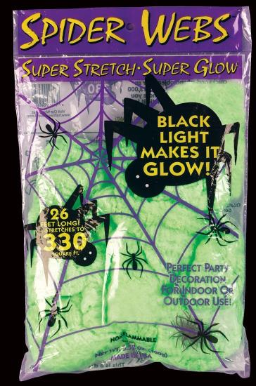 Glow in the Dark Green Spider Web