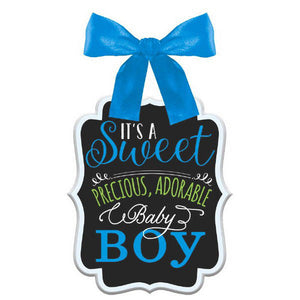 Baby shower sign boy mdf