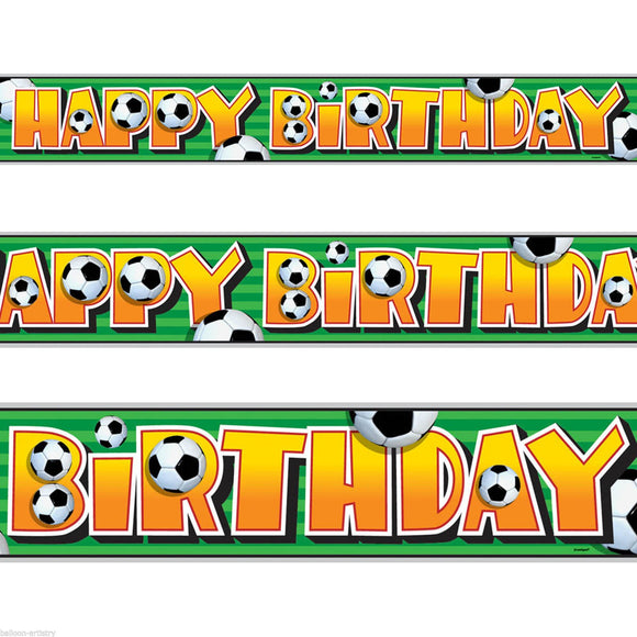 Football Sports Party Happy Birthday Foil Banner Decoration