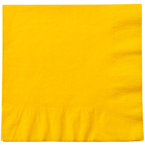 Yellow Sunshine Luncheon Napkins - Pack Of 20