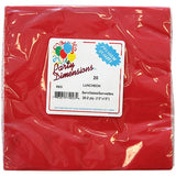 Solid Color Napkins - Red - Pack Of 20