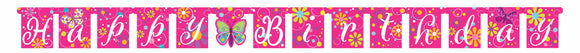 BUTTERFLY SPARKLE JOINTED BANNER LARGE