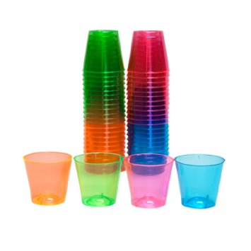 2 Oz Neon Asst Shot Glasses