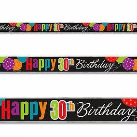 30th Birthday Cheers Foil Banner