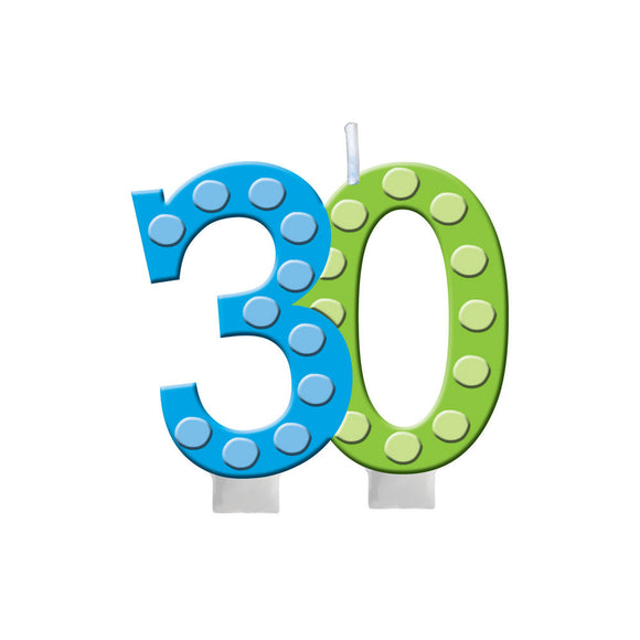 30th Molded Candle - Pack Of 1