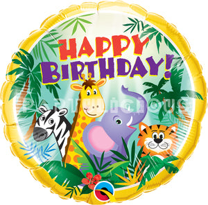 "18"" B'day jungle & friends"