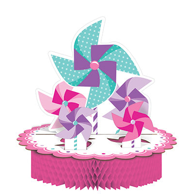 Turning One Girl Honeycomb Centerpiece