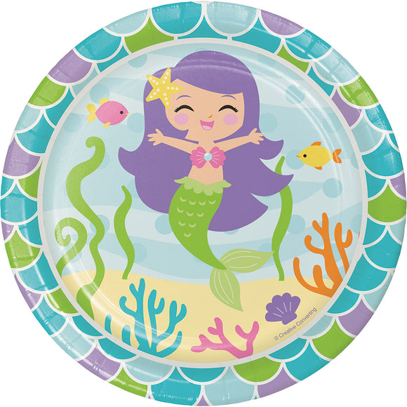 "Mermaid Friends 7"" Plates"
