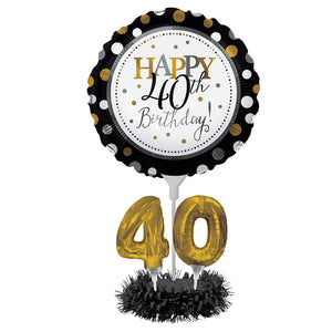 40TH BDAY BALLOON CENTREPIECE KIT