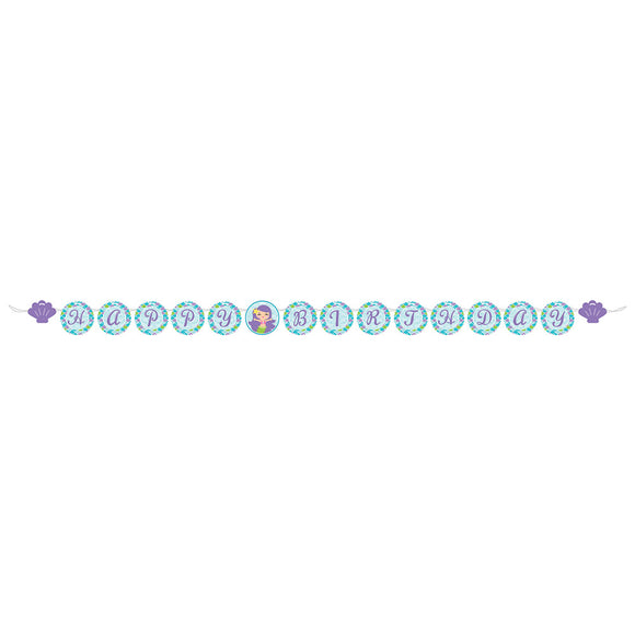 Mermaid Friends Circle Ribbon Banner