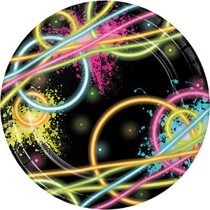 "Glow Party 7"" Plates"