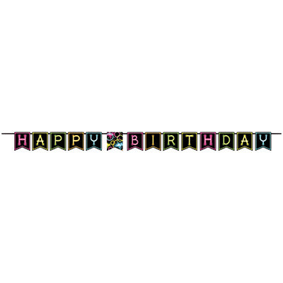 Glow Party Ribbon Banner
