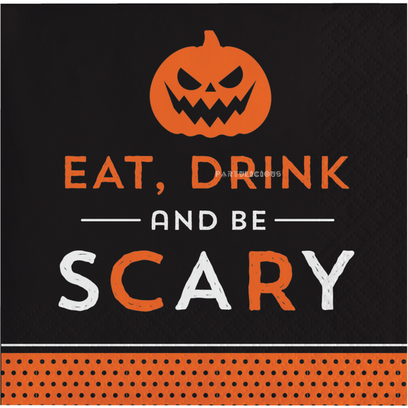 EAT DRINK SCARY BEVERAGE NAPKINS