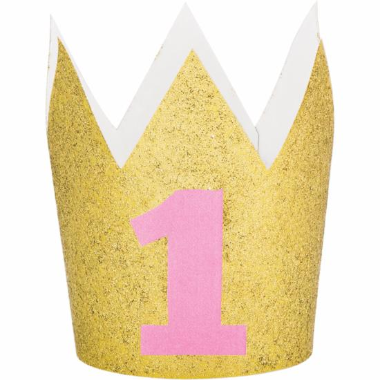 PINK GLITTER HAT CROWN