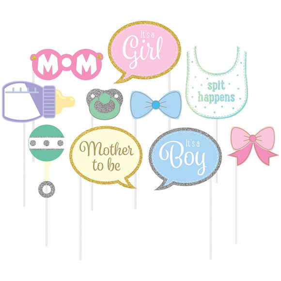 Baby Shower photo Props 10/pk