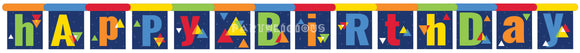 GEO POP JOINTED BANNER LARGE