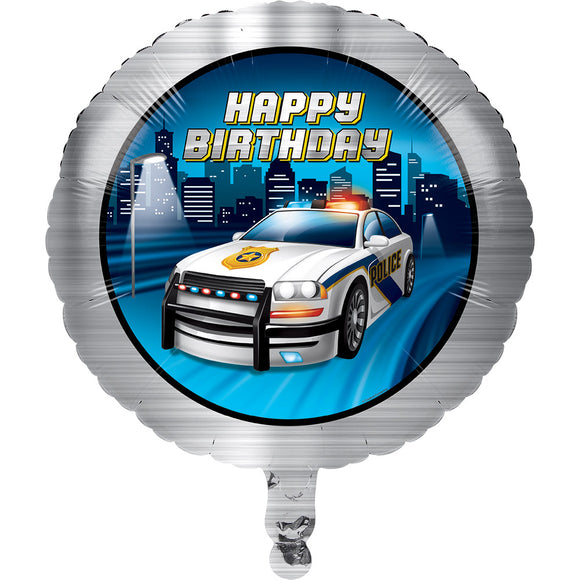 Police party foil Balloon