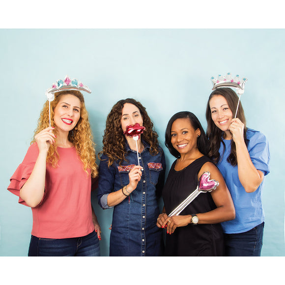 Princess Balloon Photo Props 4/pk