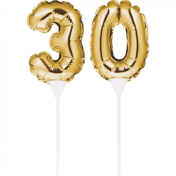 "Balloon Cake Topper ""30"""