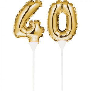 "Balloon Cake Topper ""40"""